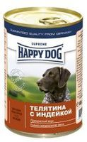 Happy Dog консервы для собак с телятиной и индейкой